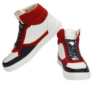 Police Men's Deck Hi Top Trainers Shoes